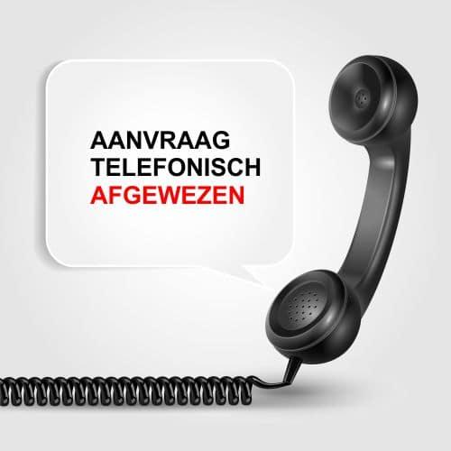 1 aanvraag telefonisch afgewezen sociale dienst drechtsteden